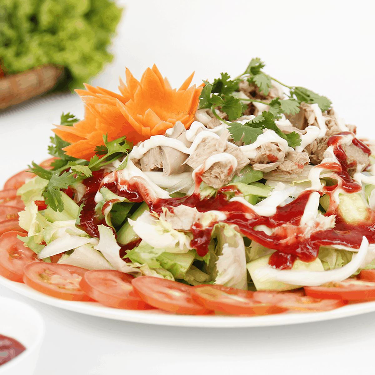 Salad cá ngừ nồi chiên không dầu
