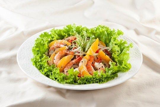 Salad tôm nướng nồi chiên không dầu