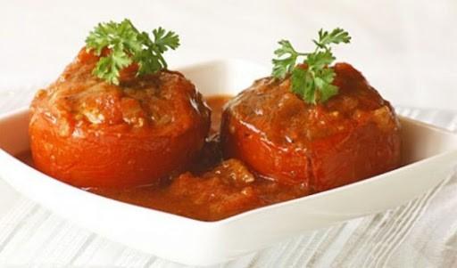 Món thịt nhồi cà chua làm từ nồi chiên không dầu