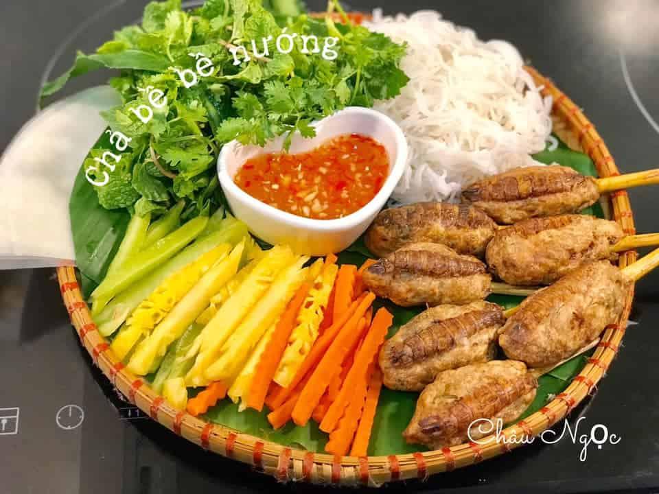 cha be be nuong bang noi chien khong dau 2