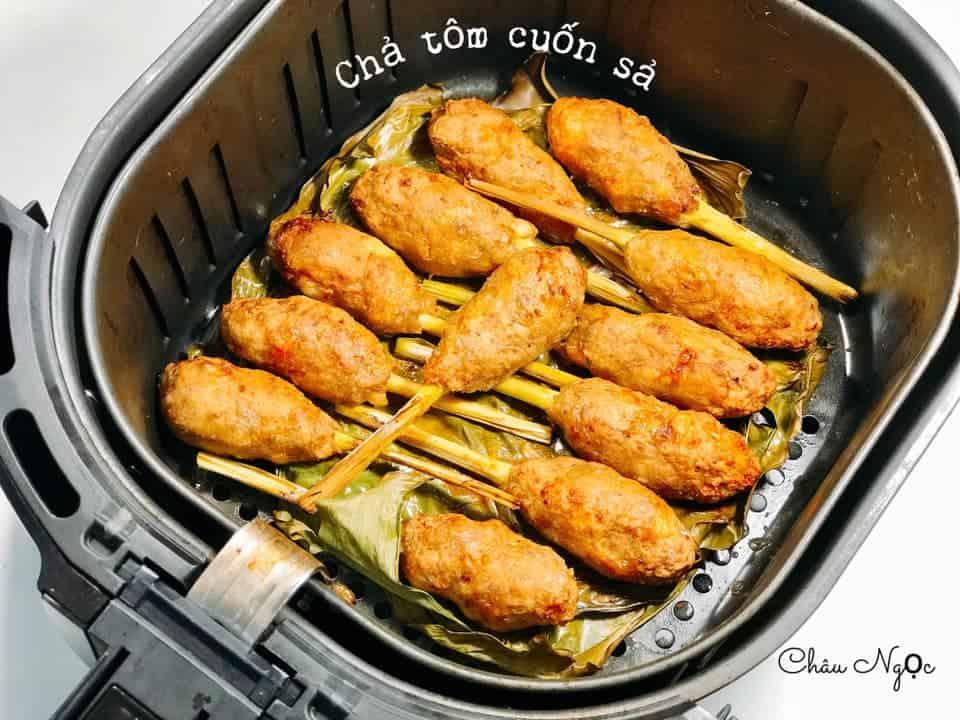 cha tom cuon sa nuong noi chien khong dau 2
