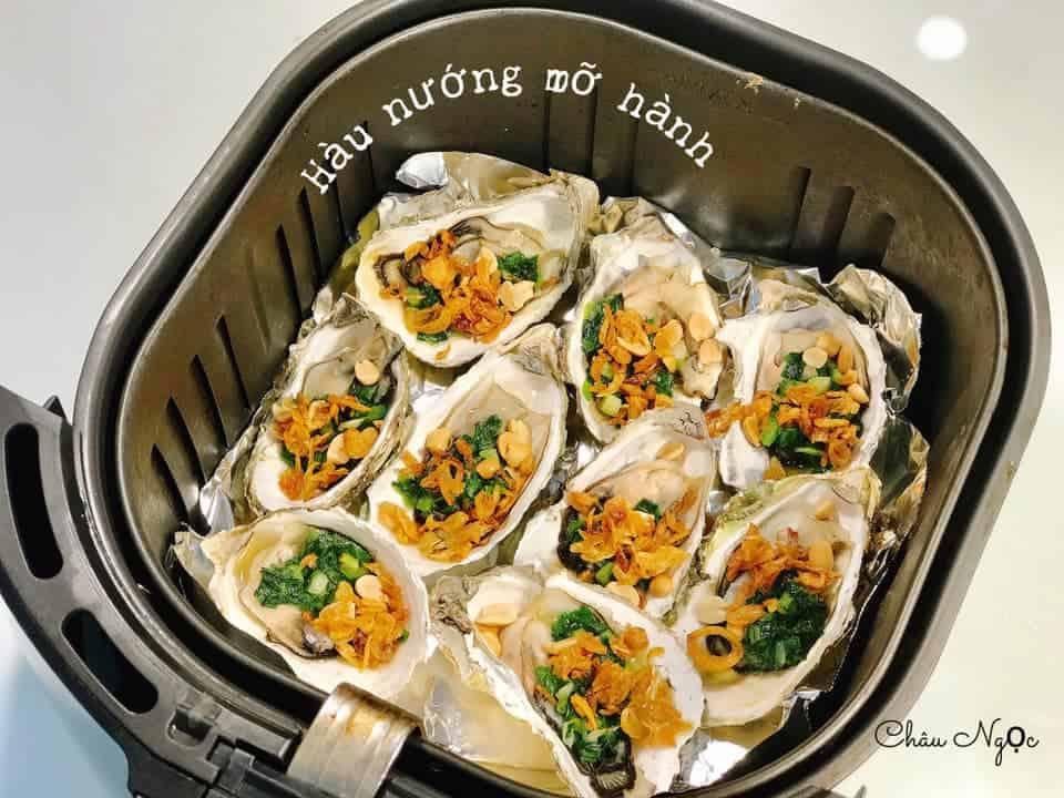 hau nuong mo hanh bang noi chien khong dau