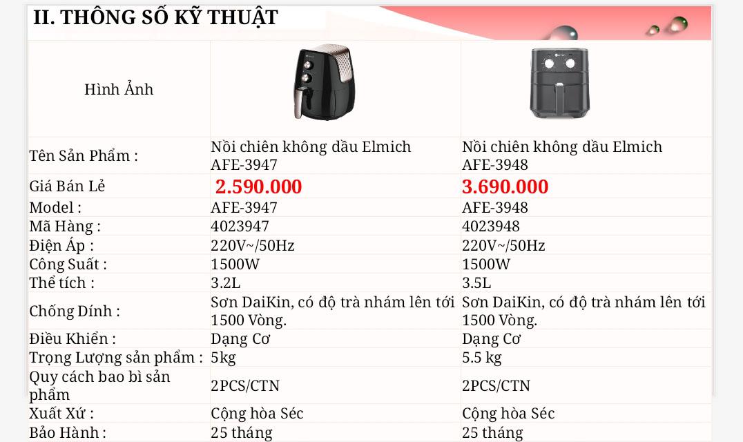 【REVIEW】Nồi chiên không dầu Elmich AFE-3948 với công nghệ mâm nhiệt đặc, chống dính sơn Daikin