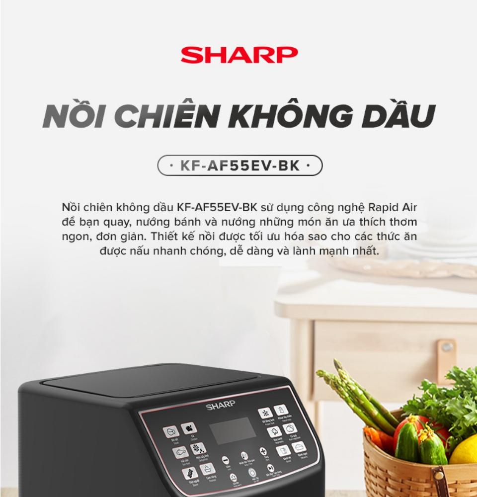 noi-chien-khong-dau-sharp-kf-af55ev-bk