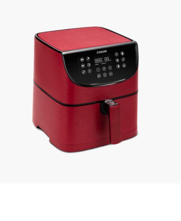 【REVIEW】nồi chiên không dầu Cosori CP158 màu đỏ sang trọng, chức năng tự động tắt và giữ ấm, báo lật thực phẩm