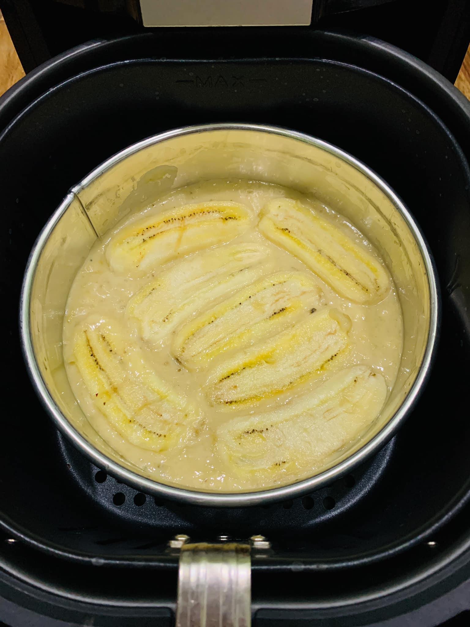 Cách làm bánh chuối nướng bằng nồi chiên không dầu 3