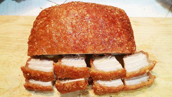 Thịt ba chỉ quay bằng nồi chiên không dầu 1