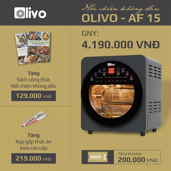 Nồi chiên không dầu OLIVO AF15