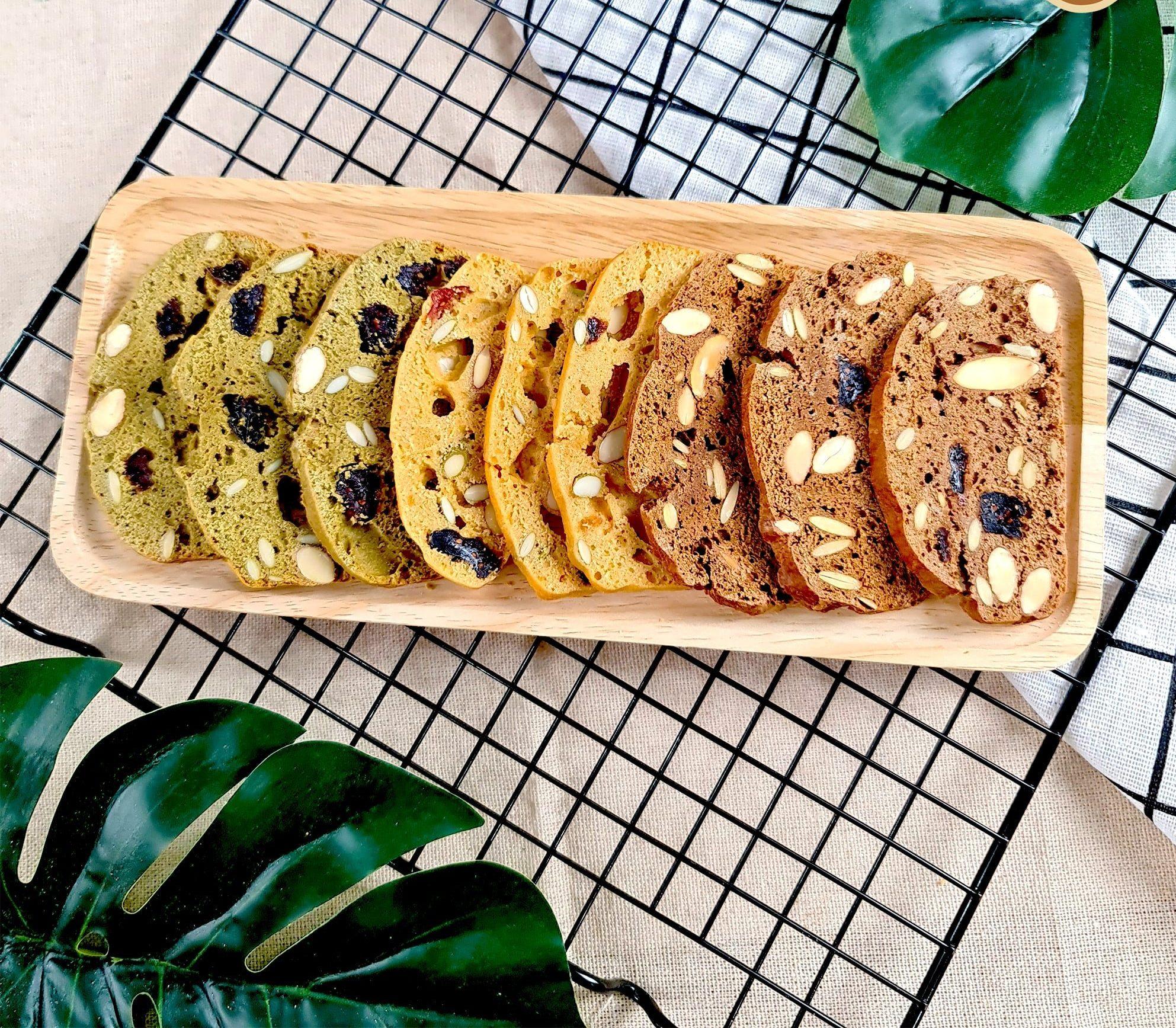Làm bánh biscotti bằng nồi chiên không dầu 1