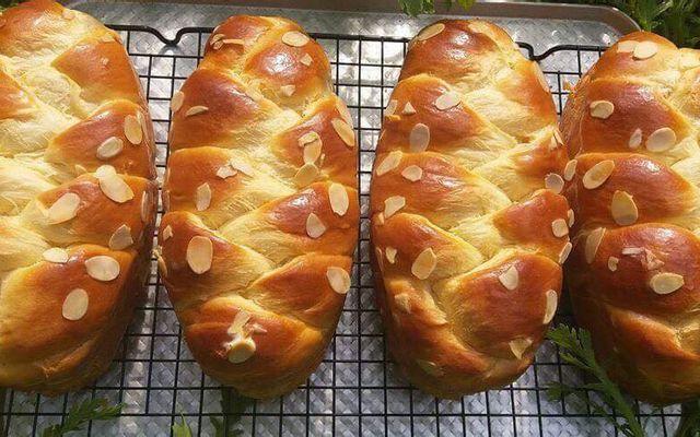 làm bánh mì hoa cúc bằng nồi chiên không dầu 8