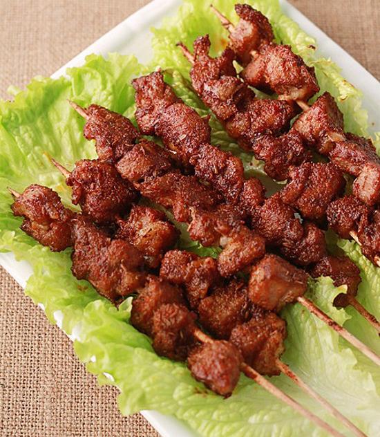 Thịt lợn xiên nướng bằng nồi chiên không dầu 7